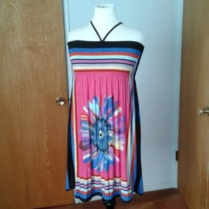 Multi color tube dress NNW